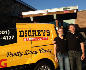 Dickey's Barbecue Pit franchise owners, Dan & Stephanie Barton